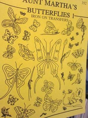 Aunt Martha's Butterflies I Iron On Transfers Booklet #352