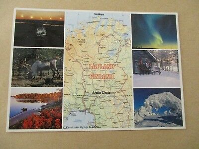 Suomi, Lapland, Finland, Postcard, Posted 16th July 1998