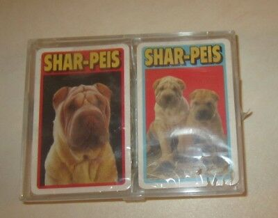 Shar Pei WRINKLES DOGS PLAYING CARDS, SEALED, new in package,double decks