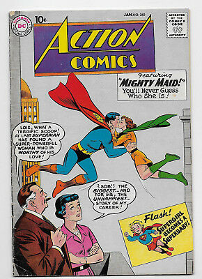 Action Comics #260 DC Silver Age 1960 Swan Cover Superman Supergirl Mighty Maid