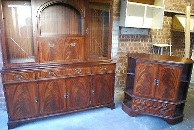 Mahogany effect dresser / cupboard unit and TV cabinet 190cm tall and 165cm long