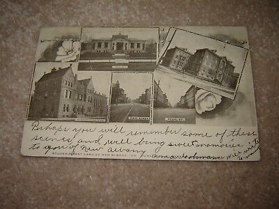 VINTAGE POSTCARD in indiana NEW ALBANY various views 1907