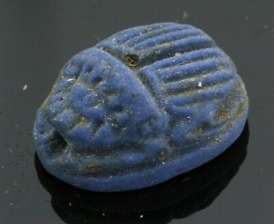 Genuine ancient Egyptian faience scarab amulet - bead