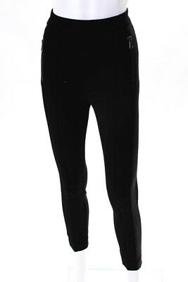 ed0fadf7f1a55 MONCLER WOMENS LEGGINGS Size 38 Italian Black Stretch Knit Cropped ...