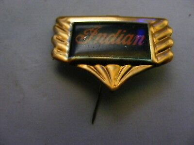 INDIAN motorcycle very old pin badge ,1950s,tinplate/tinlitho.(G).