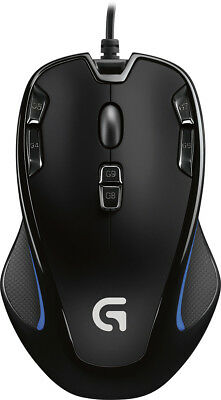 Logitech - G300S Wired Optical 9-Button Gaming Mouse with RGB Lighting - Black