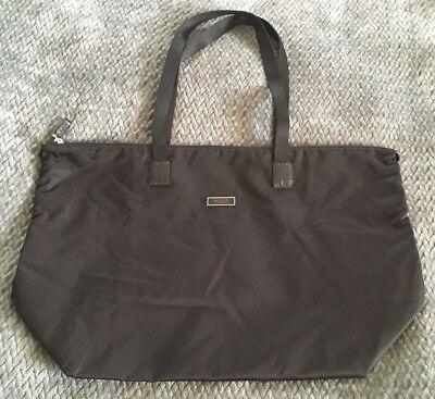 52a3f8f67d TUMI Black Nylon Leather JUST IN CASE Voyageur Packable Travel Tote Bag-NICE