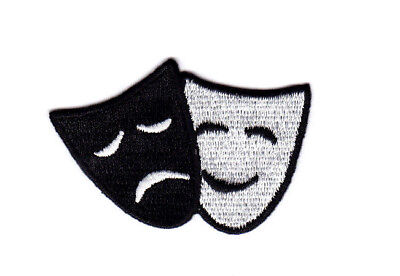 COMEDY/TRAGEDY MASKS Iron On Patch Actors Theater