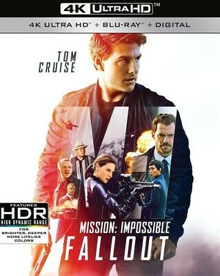 Mission: Impossible - Fallout - 3 DISC SET (2018, Blu-ray NEUF) (RÉGION A)