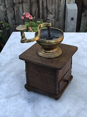 A vintage French coffee grinder mill kitchenalia