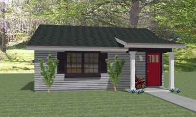 Custom Tiny House Home Building Plans 1 bed Cottage 575 sf--PDF FULL PERMIT SET