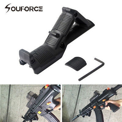 Black Angled Foregrip Hand Guard Front Grip F 20mm Picatinny Rail Rifle Hunting