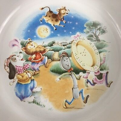 VTG 1984 AVON Child's Bowl Nursery Rhyme Hey Diddle Diddle Cat And The Fiddle