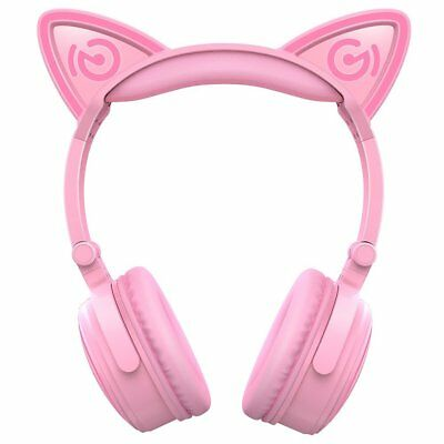 Mindkoo Wireless Cat Ear Headset Bluetooth Stereo LED Headphone For PC Mobile US