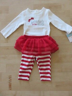 6172cb7fd71d CARTERS CHRISTMAS OUTFIT Infant Girls Santa Sweetheart Size 9 Months ...