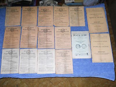 Lot of 16 United States Postal Guides 1889 1897 1898 1899 1900 1901 1903 1904