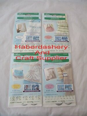 Clover Embroidery Smocking Stickers Choose 1 From List