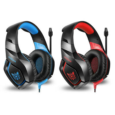 ONIKUMA K1 3.5mm Gaming Headset Mic Headphones For PC MAC PS4 Xbox ONE 360 B2C3
