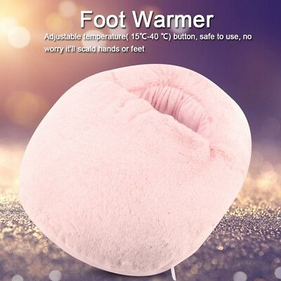 Electric Foot Warmer Feet Heater Massager USB Comfortable Soft Plush Washable