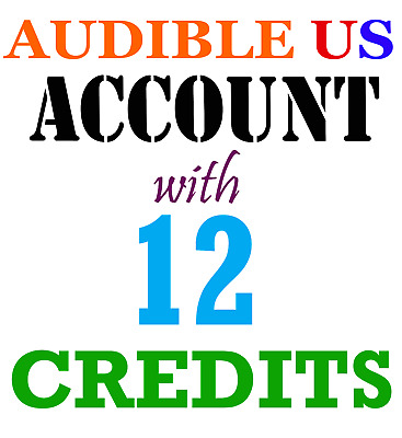 New Audible Account with 12 Credits