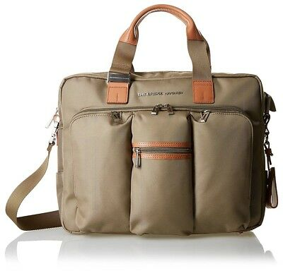 24b79250c8 The Bridge Wayfarer Khaki ballistic nylon briefcase messenger shoulder bag  BNWT