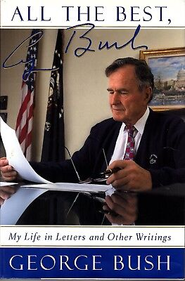 """President GEORGE H.W. BUSH Signed Autographed """"All My Best"""" Book"""