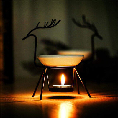 Stainless Steel Deer Burner Candle Aromatherapy Oil Lamp Decorations Aroma Furna