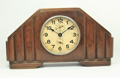 Mantel clock antique with alarm – very good working order