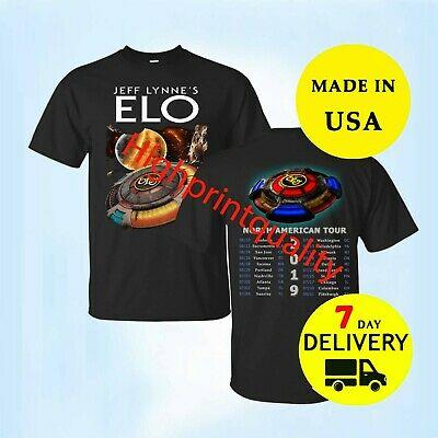 New ELO Concert Tour 2019 Black t shirt All Size Men