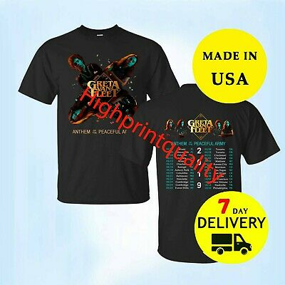 Greta Van Fleet North American Tour 2019 T-Shirt Men's Size