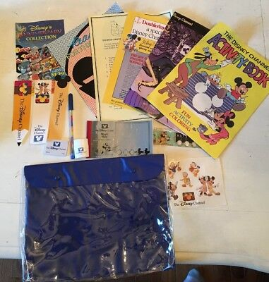 Vintage! The Disney Channel School Suppiles Kit! Activity Book! Magic Slate 1987