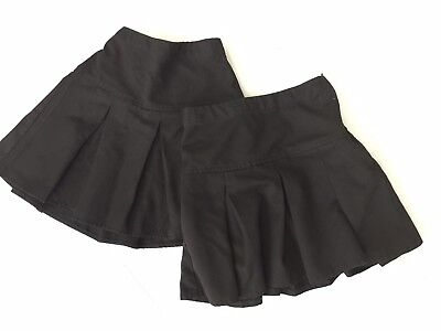 07b9852db Next Bundle 2x Girl Pleated Black School Skirts Uniform Age 7 Years VGC