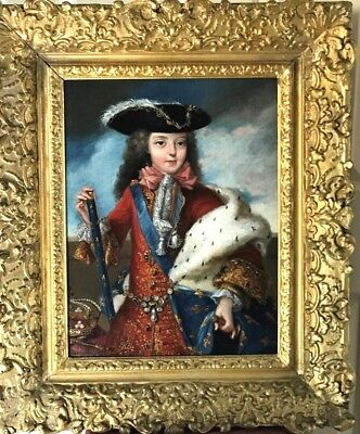 Portrait of Louis XV King of France 18th Century Amazing Oil Painting