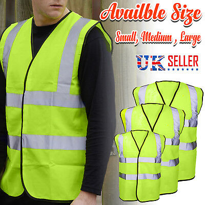 Yellow Hi Vis High Viz Reflective Visibility Vest Waistcoat Safety EN ISO 20471