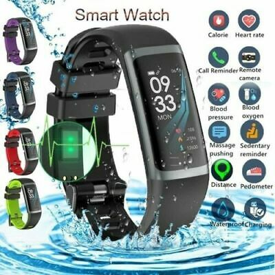 Smart Watch Bracelet Wristbands Headset Earphone Activity Tracker Android iPhone