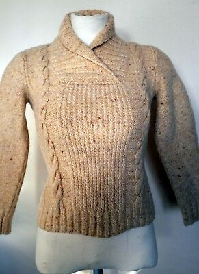 Oatmeal Colour Thick Wool Ladies 1940s Jumper  (34 Inches 86.50cm Chest)