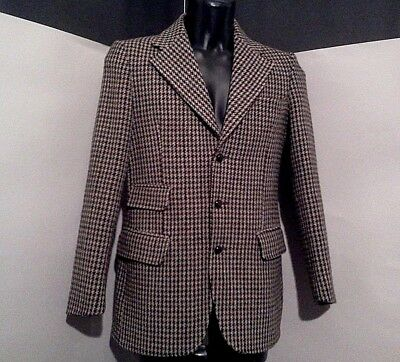 "DUNN & CO great britain pure vintage HARRYS TWEED blazer pure 100% wool 48""chest"