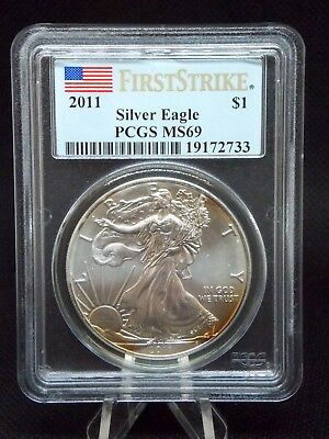"2011 American Silver Eagle $1 ASE PCGS MS69 ""First Strike"" ECC&C, Inc."
