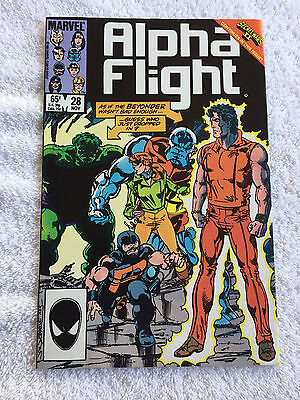 Alpha Flight #28 (Nov 1985, Marvel) Vol #1 NM!