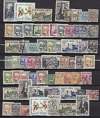 Tunisia 1902 - 1971 - Lot / Collection Of 58 - Mosque Tunis - Roman Amphitheater