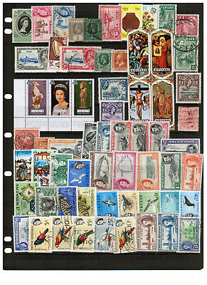 580 British Cols./Comm. stamps nearly all diff w/ better Fiji