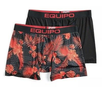 NWT Men's Equipo 2-Pack Floral Boxer Briefs - Medium