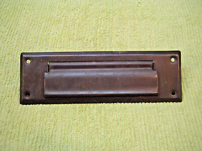 Vintage Brass Letter Door Mail Slot Mailbox Cover Architectural Salvage