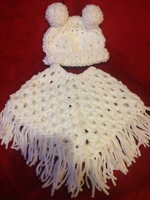 Baby Snowball Poncho And Snowball Hat