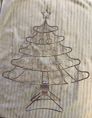 Metal Christmas Tree Card Holder Vintage Wire Folding Display Stand