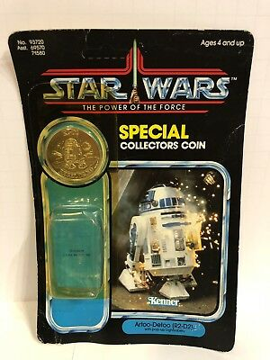 Star Wars R2 D2 Pop Up Lightsaber Cardback W Attch Bub Coin Kenner Vintage 1984