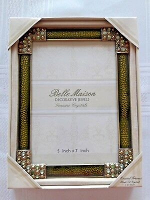 BELLE MAISON DECORATIVE Jewels Genuine Crystals Photo Frame 5 X 7 ...