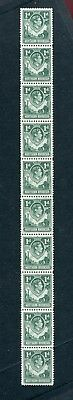 Northern Rhodesia KGVI 1938-52 1d green 'extra boatman' flaw SG28a MNH in strip