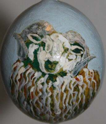 gourd Easter egg, yard or Christmas ornament with ram