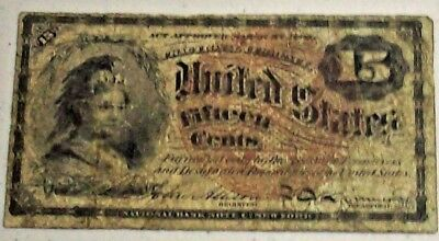 15c FRACTIONAL CURRENCY! SCARCE NOTE! IN FINE (F) CONDITION! Fr 1267